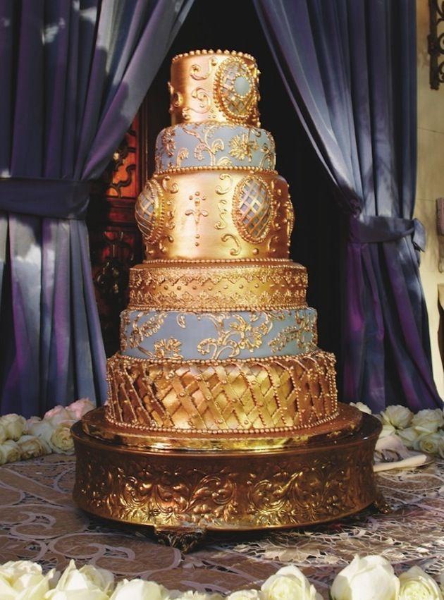 Or gâteau de mariage, WOW!