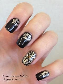 Wedding - Great Gatsby Inspired Baroque Nails 2