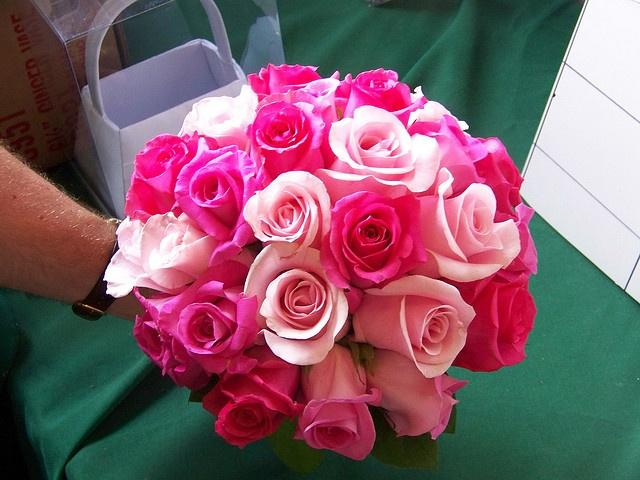 Fuscia wedding hot pink wedding bouquet 2050055 weddbook hot pink wedding bouquet mightylinksfo