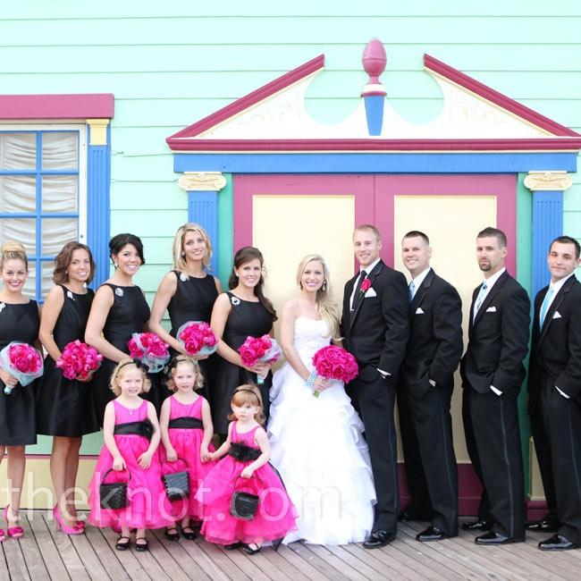 Fuscia Wedding Black Bridesmaid Dresses 2050058 Weddbook