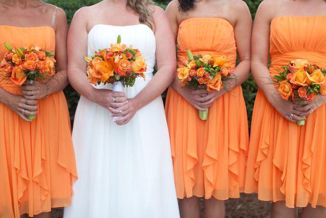 orange and lime green wedding party ideas 2050215 weddbook