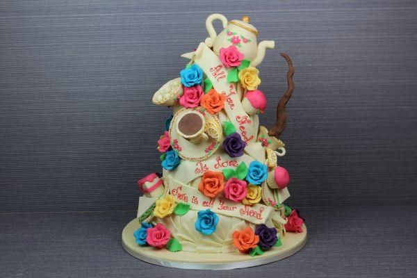 Wedding - All You Need Is Love Cake (4 Tiers)