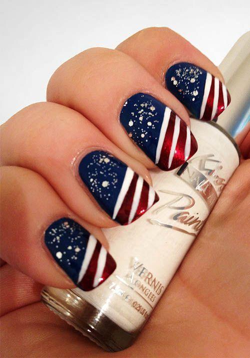 Wedding nail designs 4th of july nail 2050432 weddbook for 4th of july nail art decoration flag