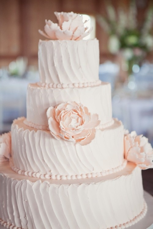Wedding Lights Light Pink Wedding Cake 2050809 Weddbook