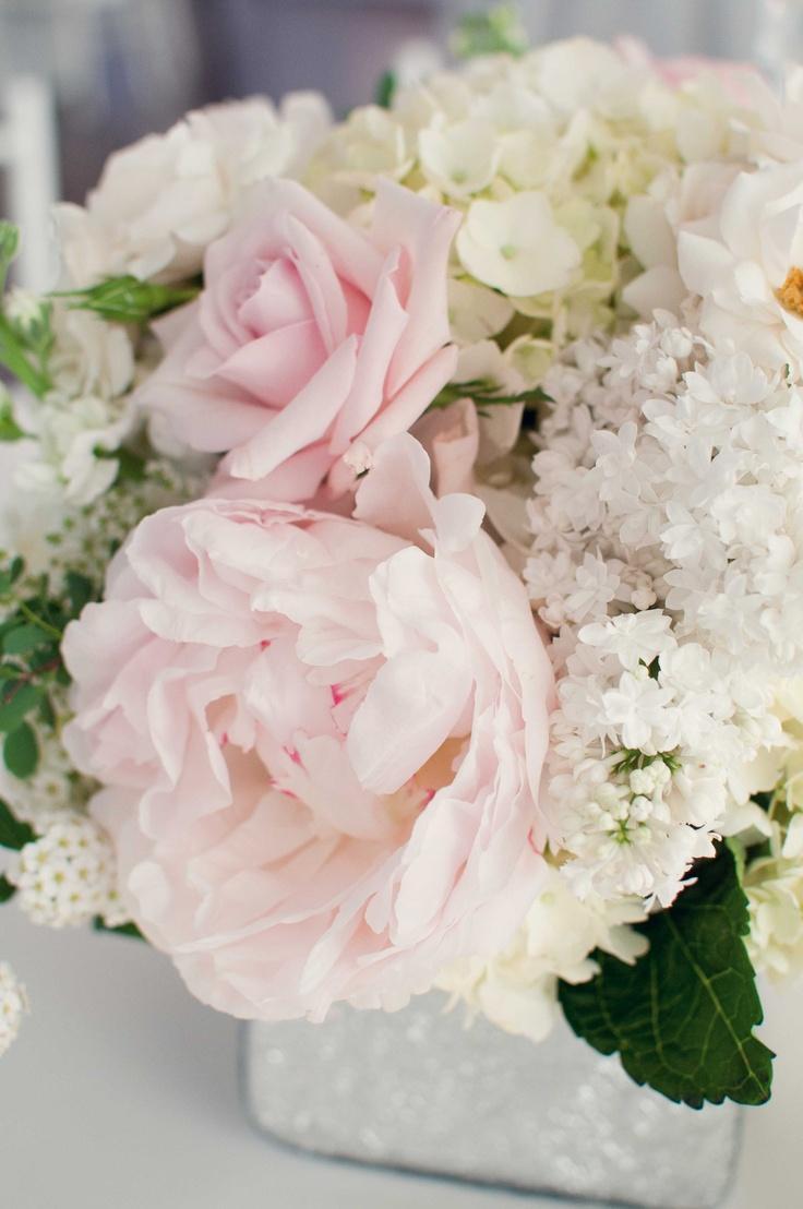 Blush wedding white centerpiece weddbook