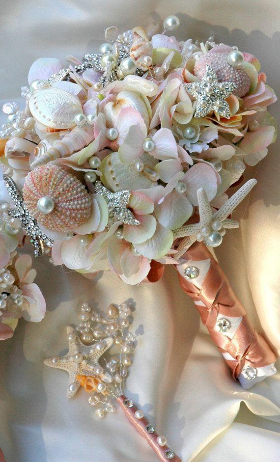 Rosa Sea Shell Hochzeits Blumenstrauss Rouge Brautstrauss Hochzeits
