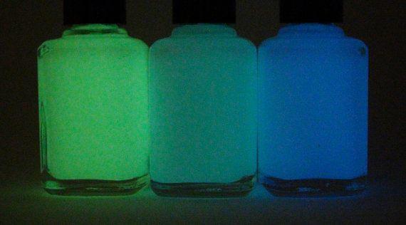 زفاف - تتوهج في الظلام معاطف الأعلى - 15ML - الأخضر - البط البري - الأزرق - طلاء الأظافر بواسطة نيلي الموز