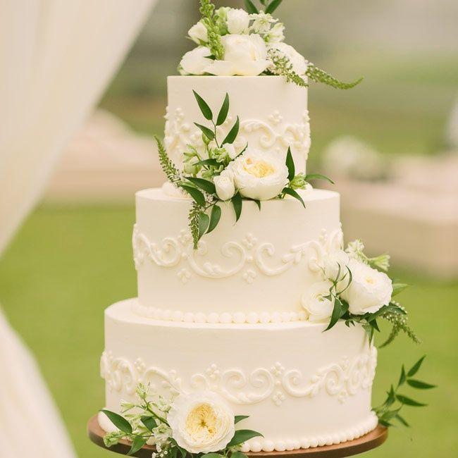 Mariage Ivoire Délicat Ivoire Gâteau De Mariage