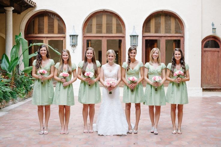 Pale Pink And Mint Green Florida Wedding