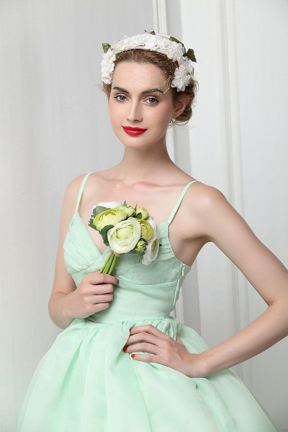 Organza Mint Green Ballet Tutu Bridesmaid Dress Fairy ...