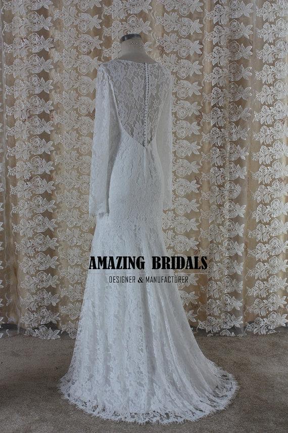 Long Sleeve Wedding Dress Long Sleeves Lace Wedding Dress Lace Wedding Dress Mermaid Wedding