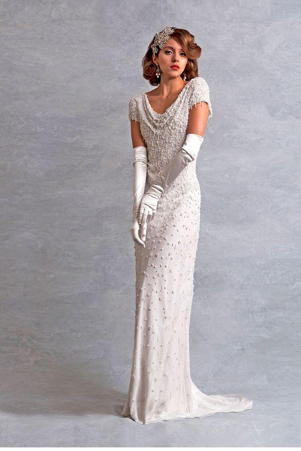 Длинное платье в стиле 30 х годов