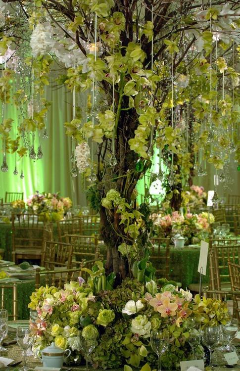Свадьба - Зеленый Глэм-Престон Бэйли