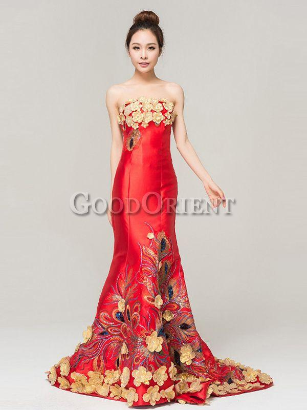 Wedding - Amazing Embroidery Floral Mermaid Dress