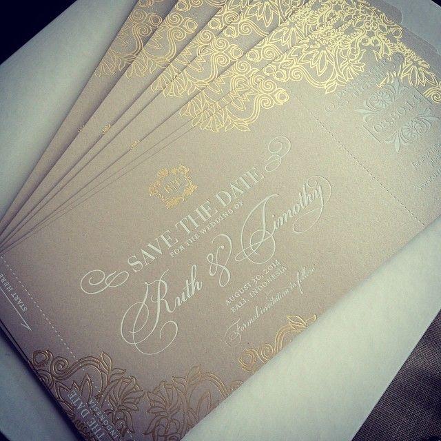 Schön Einladung Papier Gold