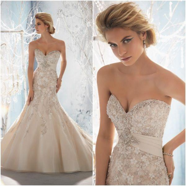 Lace wedding weddings luscious lace 2052979 weddbook for Wedding dress beading patterns