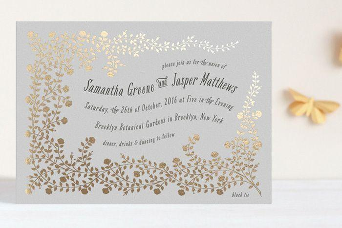 gorgeous foil pressed invitations from minted sponsored 2053385