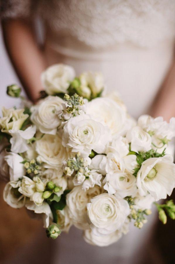 Green Wedding - Green And White Bridal Bouquet #2053546 - Weddbook