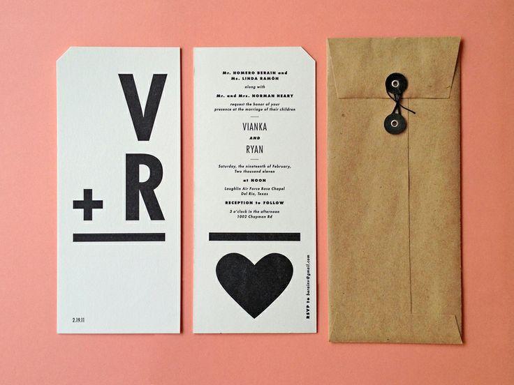 Modern Wedding - Flashcard Style Invites #2053595 - Weddbook