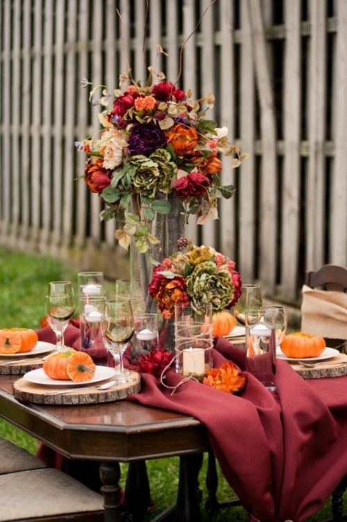 25 beautiful fall wedding table decoration ideas 2053665 weddbook. Black Bedroom Furniture Sets. Home Design Ideas