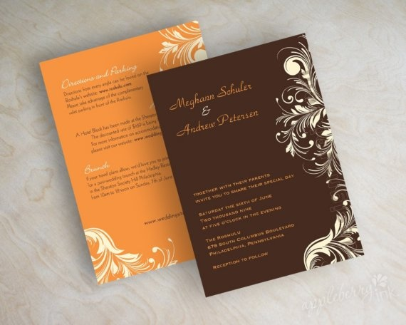 Vintage Feather Wedding Invitation Invite Victorian Stationery Black Ivory Courtney