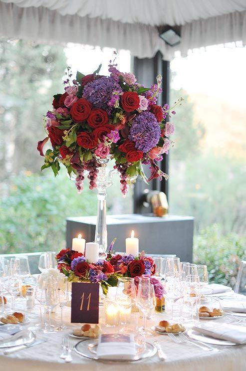 Свадьба - Классический Пурпурный И Белый Свадебный