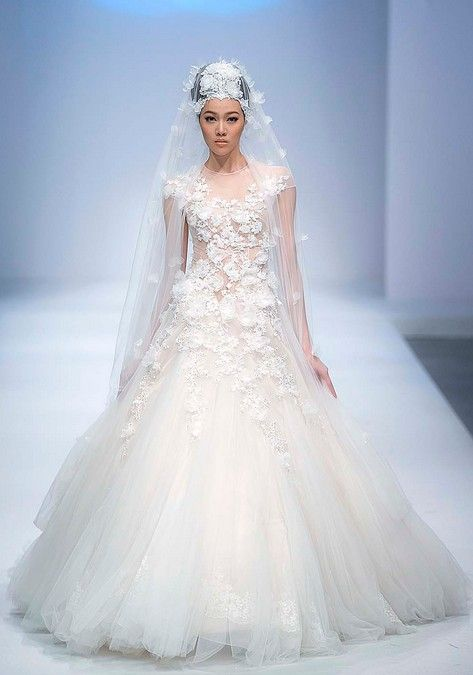 Dress - Fairytale Wedding Dress With The Veil. #2053980 - Weddbook