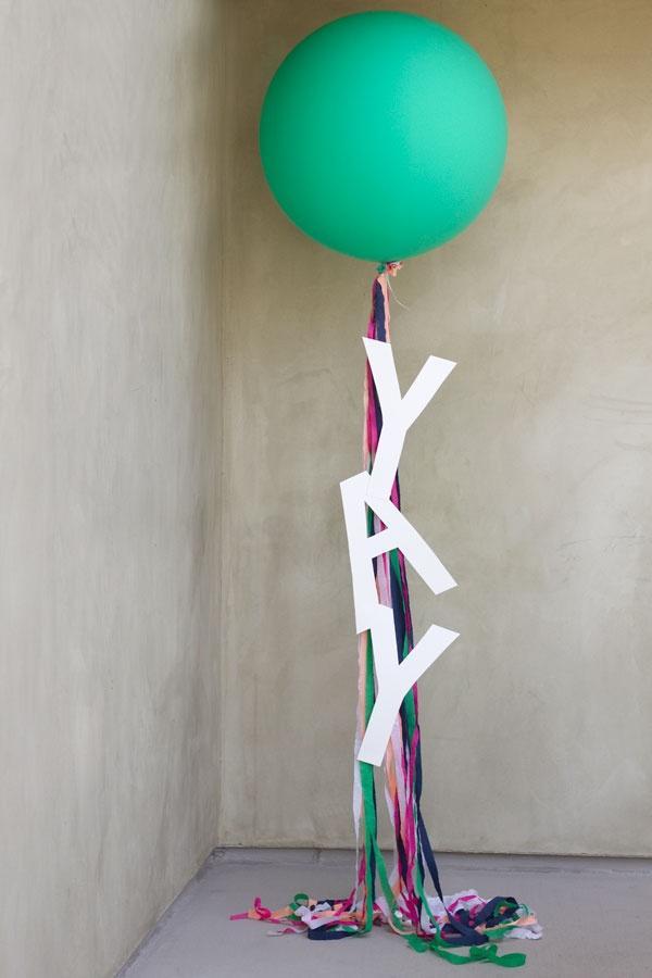 """Wedding - DIY """"Yay!"""" Balloons"""
