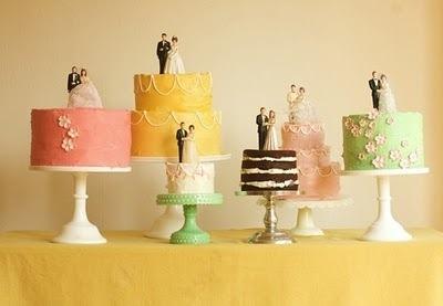 Свадьба -  Люблю Ретро Свадебные Торты A