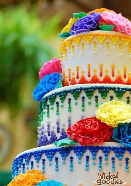 Rainbow Wedding Rainbow Cake 2054168 Weddbook