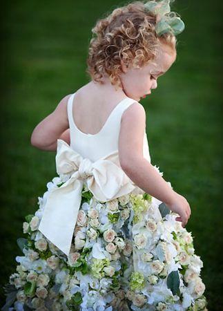 Boda - Un vestido de niña de las flores Made With Roses Bienes