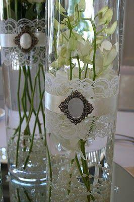 Vintage Wedding Weinlese Spitze Vasen 2054238 Weddbook