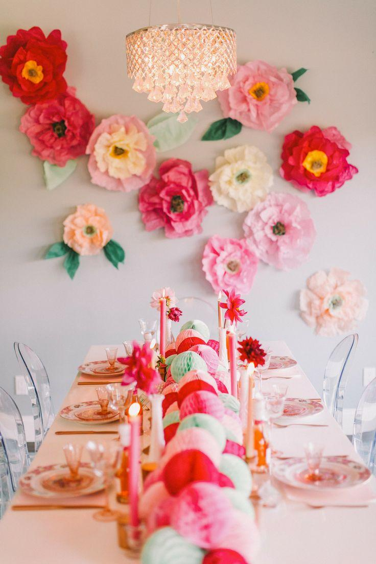 bridal shower diy flower wall bridesmaids 39 party 2054407 weddbook. Black Bedroom Furniture Sets. Home Design Ideas