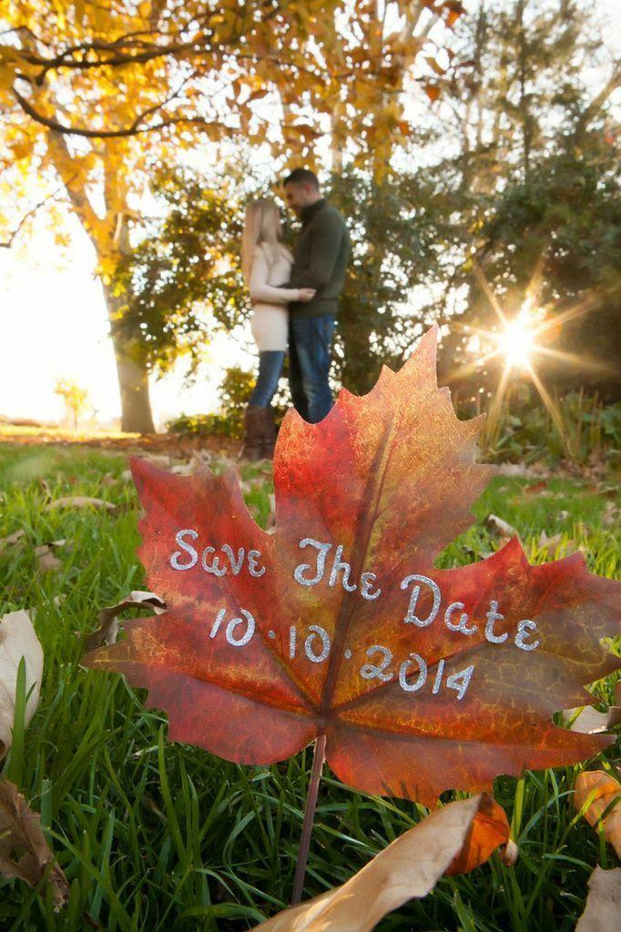 Save The Date Ideas Fall Save The Date Photo Idea 2054454 Weddbook