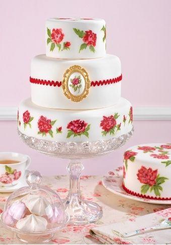 Wedding Cupcakes - Red And White Wedding Cake #2054470 - Weddbook
