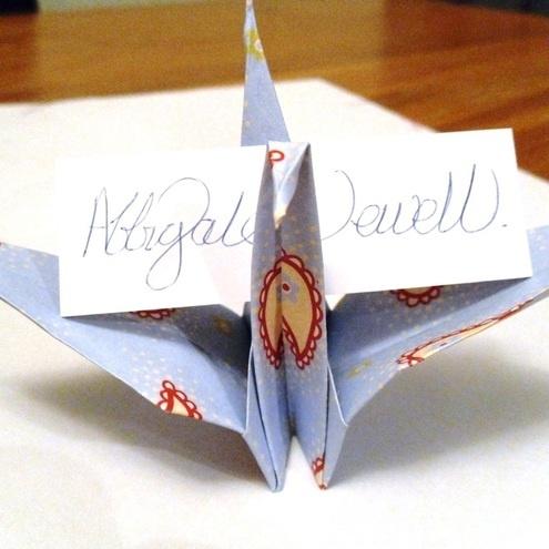Spring wedding origami name card holder 2054589 weddbook origami name card holder reheart Image collections