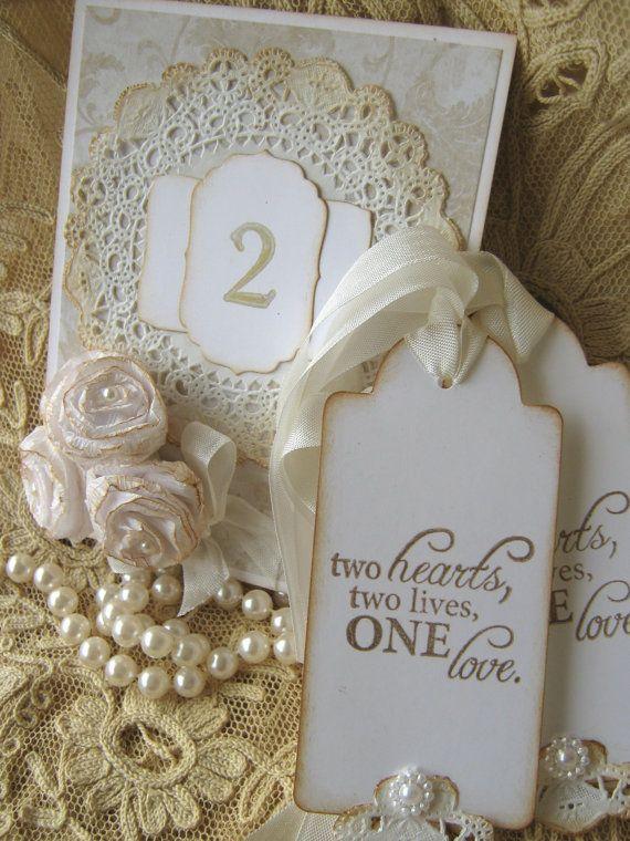 Mariage - Mariage de dentelle envies Tags, étiquettes de faveur de mariage