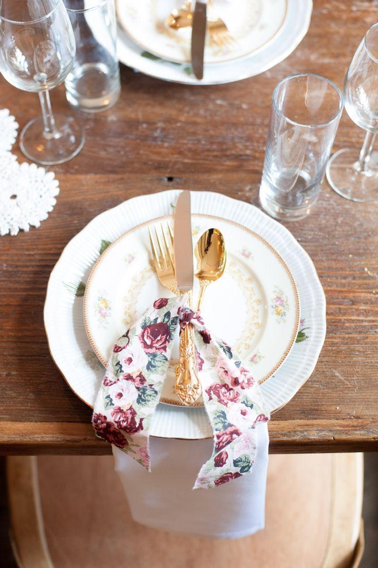 Mariage - Idées d'impression florale de mariage {Vintage