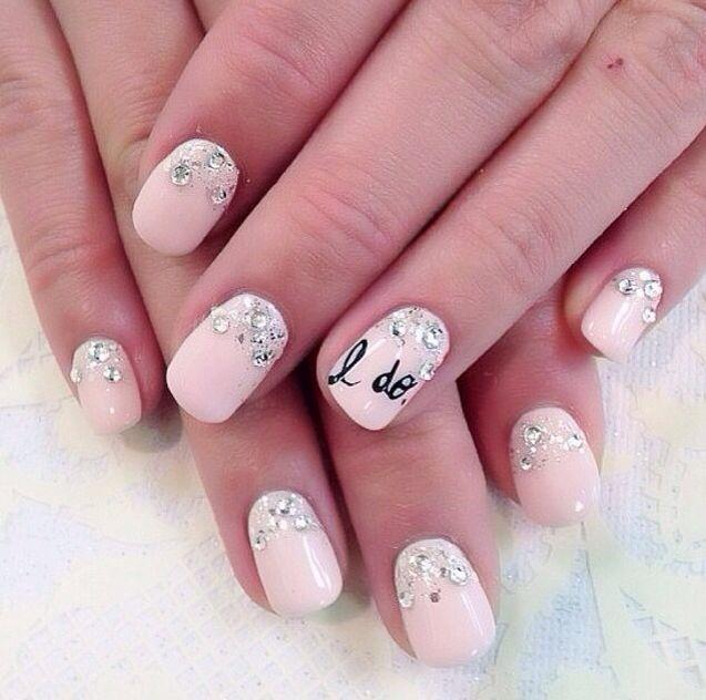 Wedding Nail Art With The Message Of I Do 2054806 Weddbook