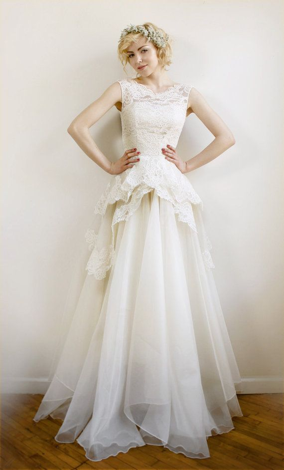 Mireille- Silk Organza And French Lace Wedding Gown #2054907 - Weddbook