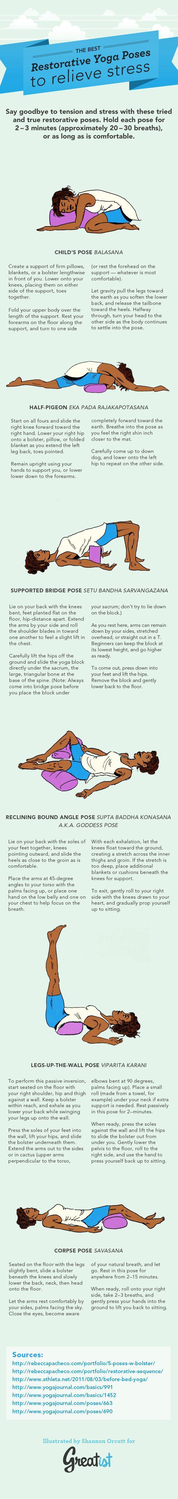 Das Best Restorative Yoga Haltungen, Um Stress Abzubauen ...