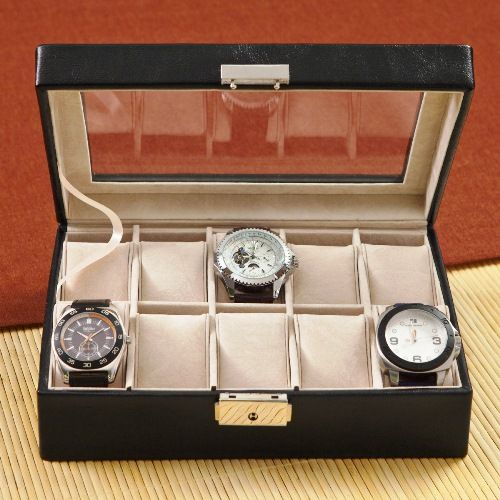 Wedding - Personalized Men's Leather Watch Case