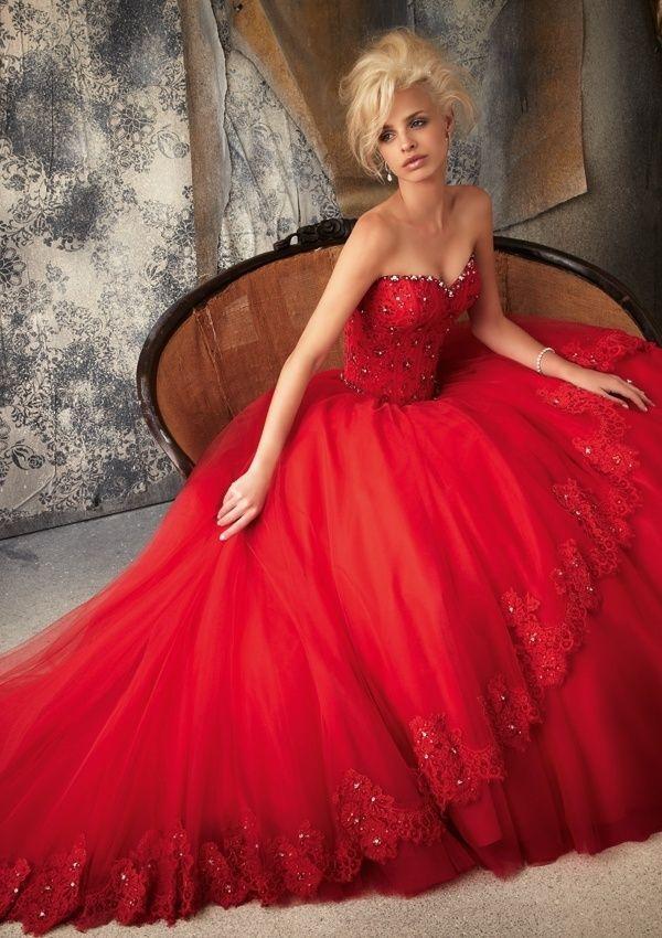 Burgundy Wedding - Red Wedding Dresses #2055227 - Weddbook