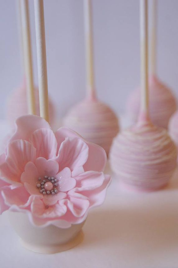 Cake Pops See More About Flower Cakes Wedding Cake Pops And Pink