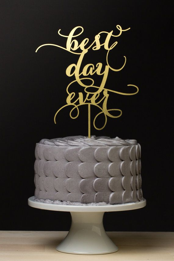 Gold Wedding Cake Topper Australia
