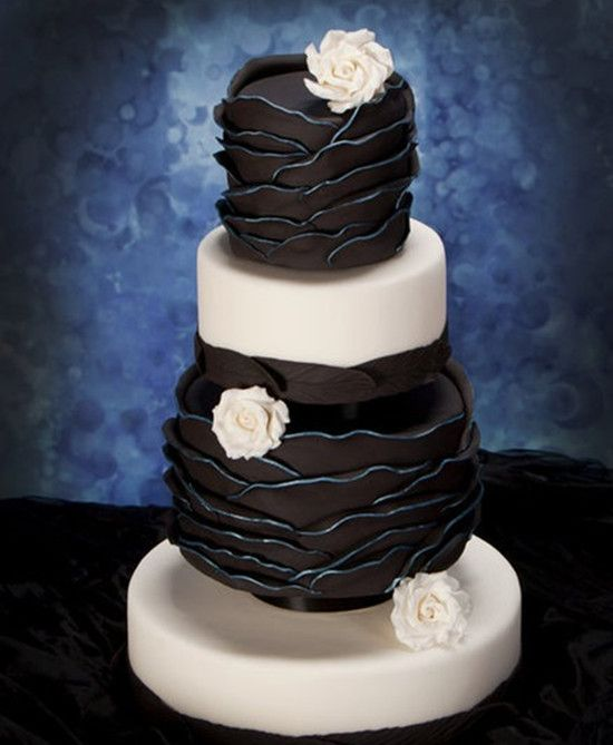 Retro Wedding - Black And White Wedding Cake #2055387 - Weddbook