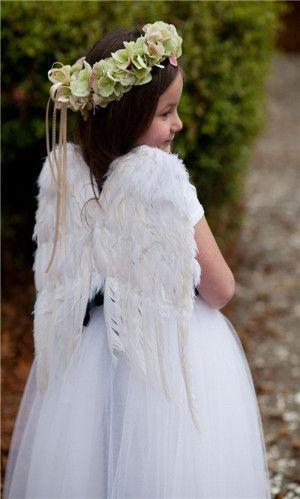 Hochzeit - Blumenmädchen Kleid mit Angel Wings!
