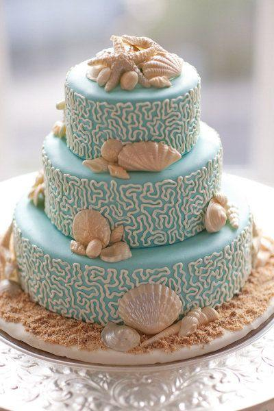 Wedding - Beach Inspired Wedding Cake