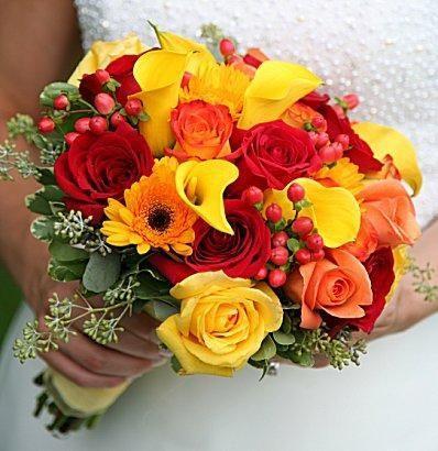 Düğün - Sonbahar Düğün Çiçekleri