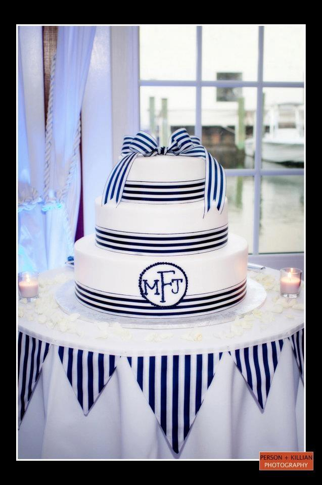Nautical Wedding - Cake Table With Flags Only. #2055732 ...